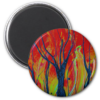 tree flame spraypainting magnets