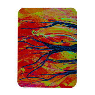 tree flame spraypainting rectangle magnets