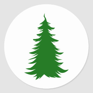 Tree for Christmas Round Stickers