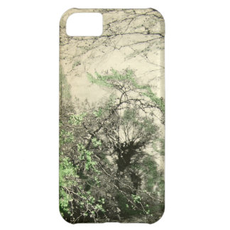 Tree Forest Branches Nature Camouflage Cream Green Cover For iPhone 5C