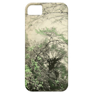Tree Forest Branches Nature Camouflage Cream Green iPhone SE/5/5s Case