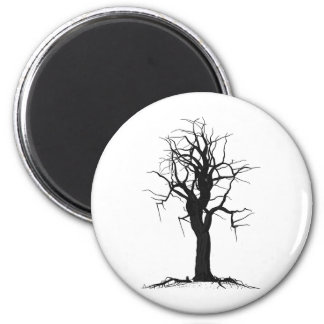 Tree Four 2 Inch Round Magnet