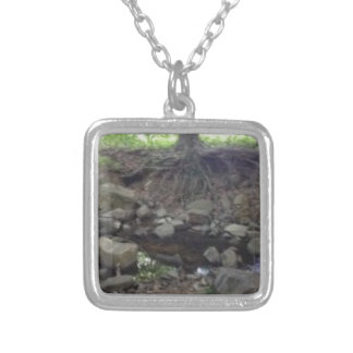 Tree Fox Den Silver Plated Necklace