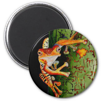 Tree Frog 2 Inch Round Magnet