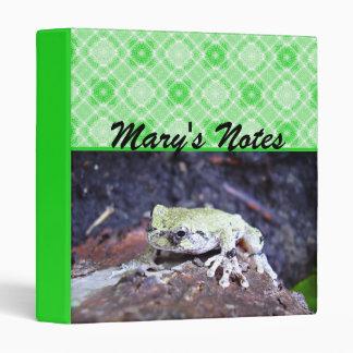 Tree Frog 3 Ring Binder