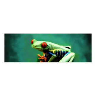 Tree Frog Bookmark Cards Mini Business Card