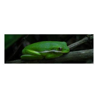 Tree Frog Bookmark Mini Business Card