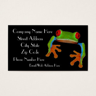 Tree Frog Business Card Sample1