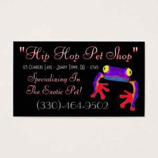 Tree Frog Business Card Sample2