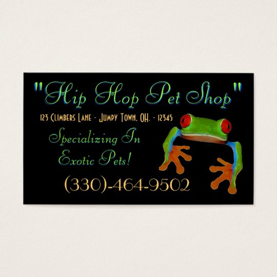 Tree Frog Business Card Sample3