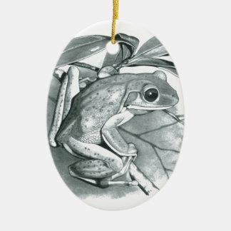 Tree Frog Ceramic Ornament