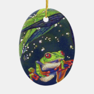 Tree Frog Ceramic Ornament