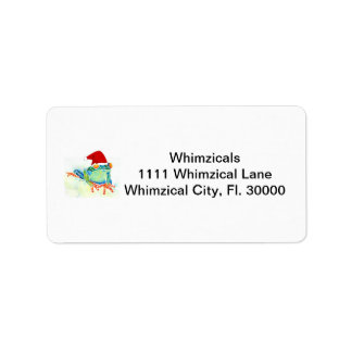 Tree Frog Christmas Gifts Custom Address Label