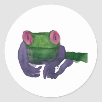 Tree Frog Classic Round Sticker