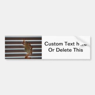 tree frog climbing blinds neat animal photo car bumper sticker