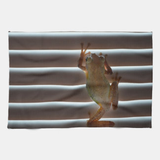 tree frog climbing blinds neat animal photo hand towels