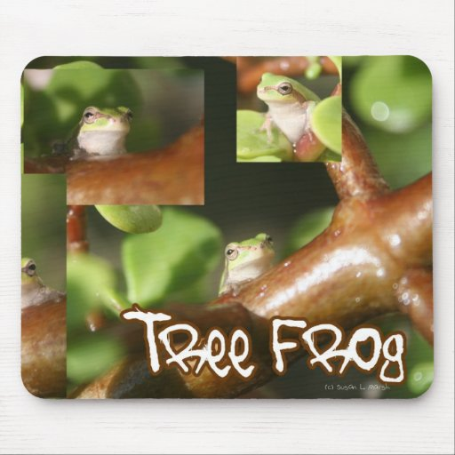 Tree Frog Collage, same frog different poses Mouse Pads