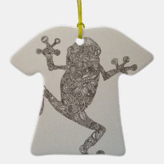 Tree Frog design Double-Sided T-Shirt Ceramic Christmas Ornament