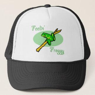 Tree Frog Design Trucker Hat