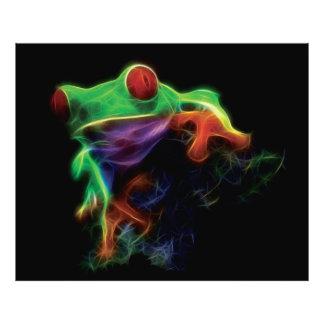 Tree Frog Fractal Photo Print