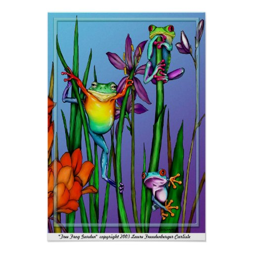 Tree Frog Garden Poster