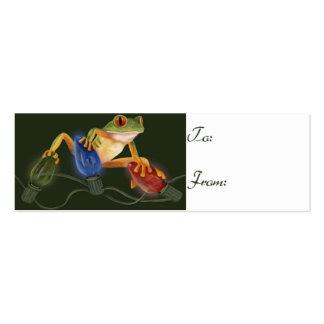 Tree Frog Gift Tag Mini Business Card