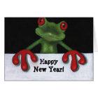 TREE FROG: HAPPY NEW YEAR CARD