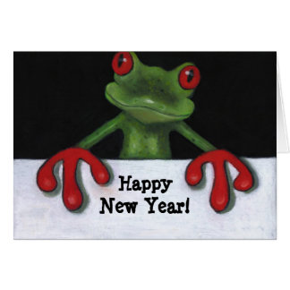 TREE FROG: HAPPY NEW YEAR CARD
