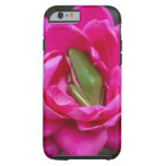 Tree Frog Hiding In Rose Tough iPhone 6 Case