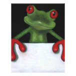"""TREE FROG HOLDING SIGN: YOU PICK WORDING 8.5"""" X 11"""" FLYER"""