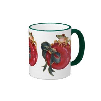 Tree Frog Holiday Mug
