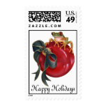 Tree Frog Holiday Stamp