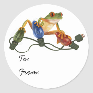 Tree Frog Holiday Sticker