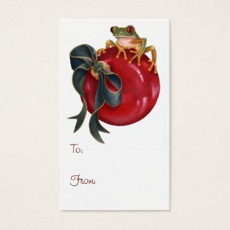 Tree Frog Holiday Tag