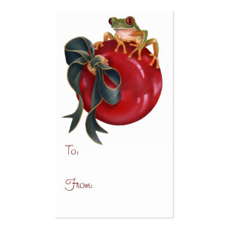 Tree Frog Holiday Tag Business Card