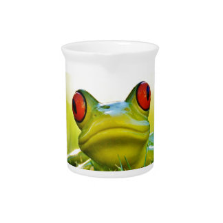 Tree Frog In Grass Kitchen Theme Drink Pitchers