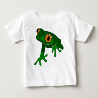 tree frog infant tee - green and white
