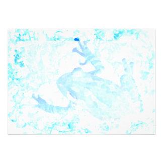 tree frog invert blue white moss animal design invitation