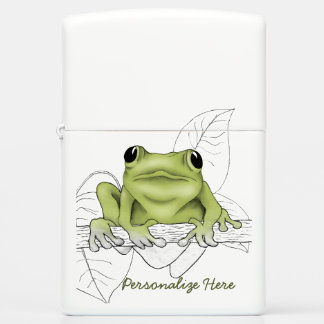 Tree Frog Is Watching You Zippo Lighter