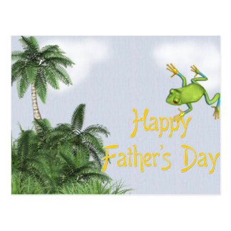 Tree Frog/Jungle - Happy Father's Day Postcard
