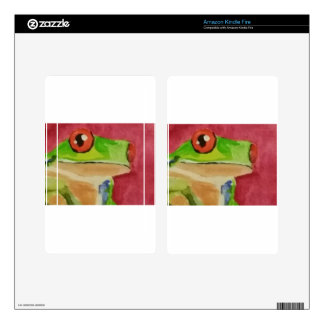 Tree Frog Kindle Fire Decals