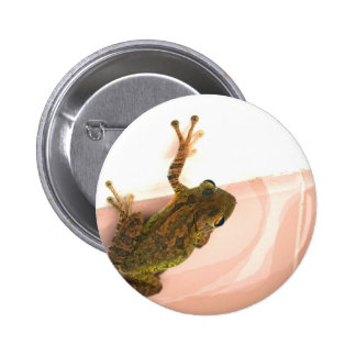 tree frog leg up stylized pink animal buttons
