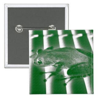 tree frog looking left green sketch animal design pinback buttons