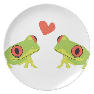Tree Frog Love Plates