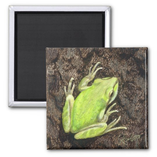 "Tree Frog Magnet - ""Envy Green"""