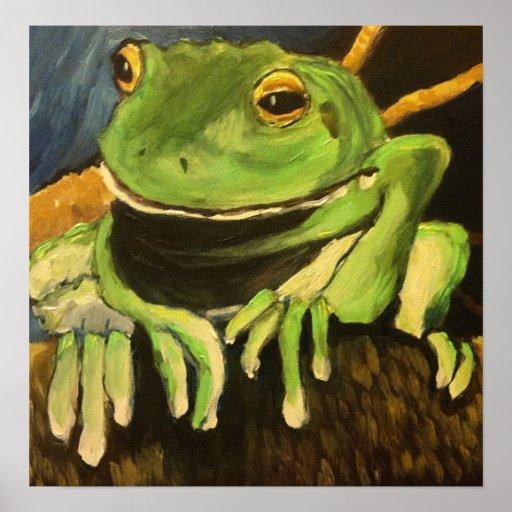 Tree Frog - Mark Patrick Poster