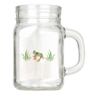Tree Frog Mason Jar