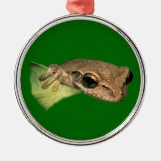 tree frog metal ornament