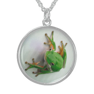 Tree Frog Necklaces. Sterling Silver Necklace