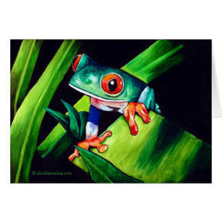 Tree Frog Note Card
